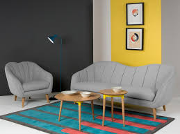 Sofa Table Lamp Height High Ceiling Curved Sofa Double Height Columns étagère Art Gray
