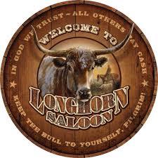 longhorn saloon sign