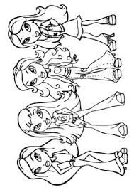 bratz dolls free printable coloring sheets coloring pages
