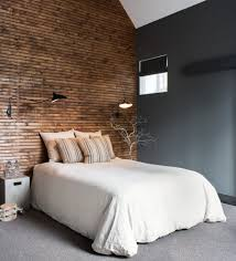 Striped Roman Shades Industrial Design Bedroom Bedroom Industrial With Gray Wall