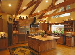 Rustic Cottage Kitchens - kitchen room 2017 cabin kitchens square brown wooden kitchen