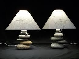 cool bedside lamps bedside lamps set of balance rock lamps
