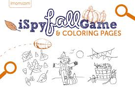 ispy fall game and fall coloring pages imom