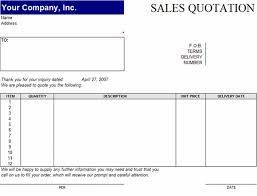 Microsoft Excel Quote Template Sales Quotation Template For Word