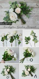 diy bridal bouquet white eucalyptus bouquet silk flowers bridal bouquets and