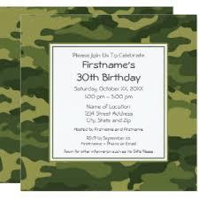 camouflage party invitations u0026 announcements zazzle