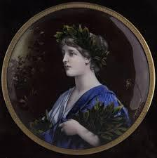 Gilt Bonze Enameled Portrait Limoges Enameled Plaque In Amazing Gilt Bronze Frame Circa 1900 At