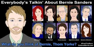 Thom Yorke Meme - endorsebernie com please endorse bernie sanders for president