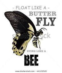 float like butterfly sting like bee stock illustration 441132520