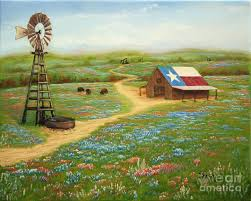texas flag painting texas countryside by jimmie bartlett