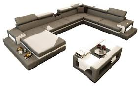Gray Leather Sectional Sofa by Gray Leather Sectional Vig 5081 Contemporary Sectional Sofas