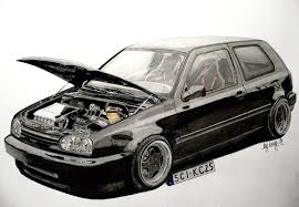 volkswagen drawing volkswagen golf mk3 vr6 drawing by hary1908 on deviantart