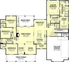 4 bedroom farmhouse plans plan 52269wm expanded farmhouse plan with 3 or 4 beds modern