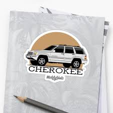 jeep grand cherokee stickers jeep grand cherokee zj white stickers by motorprints redbubble