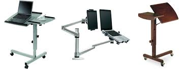 Recliner Laptop Desk by Organize A Comfy Working Place With A Swivel Laptop Stand