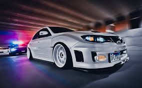 subaru impreza stance widescreen car subaru impreza wrxsti white in cops speed on
