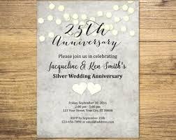 wedding anniversary invitations anniversary invites etsy