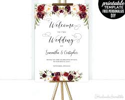 wedding welcome sign template template wedding welcome template