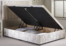 Ottoman Base by Velvet Fabric Ottoman Storage Divan Base Bedworld At Bedworld