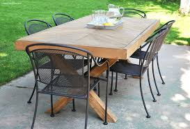Rustic Outdoor Patio Furniture Dining Table White Outdoor Dining Table Furniture Easy Build