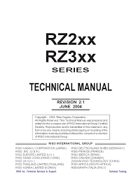 service manual riso rz200 printer computing belt mechanical