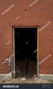 high resolution open doorway on brick stock photo 11982157
