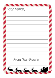 free printable writing paper to santa printable letter to santa writing paper