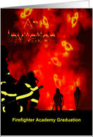 academy graduation invitations firefighter graduation invitations from greeting card universe