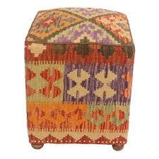 Handmade Ottoman Purchase Fortner Kilim Upholstered Handmade Ottoman By