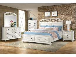 White Bed Frame With Storage Mystic Bay White Queen Storage Bed