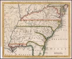 Map Of Carolinas A Map Of Virginia North And South Carolina Georgia Maryland