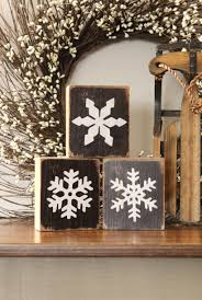 snowflakes the rustic sign by s country home