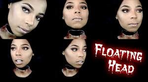headless halloween makeup tutorial floating head hovering head