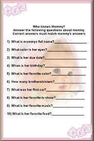 who knows best baby shower who knows best baby shower questions baby shower ideas
