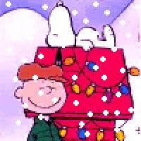 snoopy dog house christmas snoopy christmas doghouse animated gifs photobucket