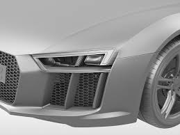 Audi R8 Exterior Audi R8 V10 Coupe 2016 3d Cgtrader