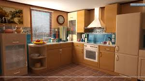 ready to cook in clean kitchen wallpaper