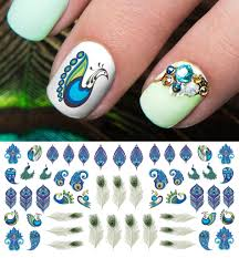 peacock feathers nail art decals u2013 moon sugar decals