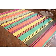 Extra Large Area Rug by Large Handmade Flat Weave Stripe Extra Large Area Rug Size 6 U0027x8