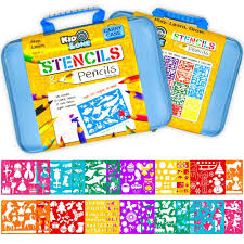 amazon com stencil drawing kit w carry case over 300 shapes