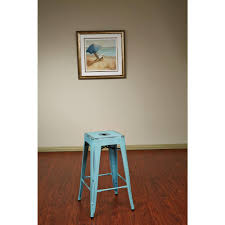 backless blue bar stools kitchen dining room furniture antique sky blue bar stool set of 4