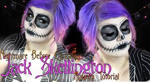 jack the skeleton halloween costume jack skellington halloween makeup tutorial youtube