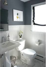 Before  After Updating A HalfBath  Laundry Room Hooked On - Elegant white cabinet bathroom ideas house