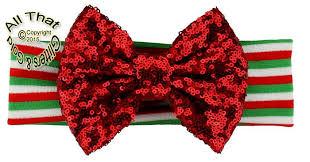 sequin headbands big bow christmas headbands baby sequin