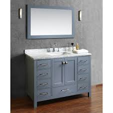 buy vincent 48 inch solid wood single bathroom vanity in charcoal