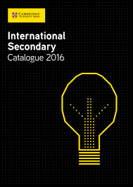 international secondary catalogue 2016 by cambridge university