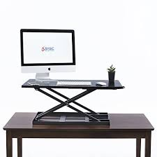 table jack standing desk converter 32 x 22 inch extra large