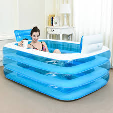 Collapsible Bathtub For Adults Aliexpress Com Buy Couple Pvc Portable Folding Inflatable