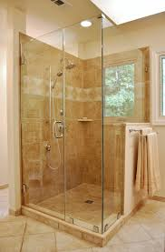 glass shower door half wall fixed glass tub panel shower knee wall height gl block pan how