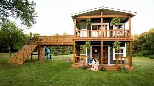 dad builds over the top playhouse you u0027ll want to move into